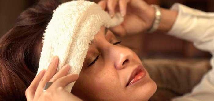 Холодный компресс от головной боли
