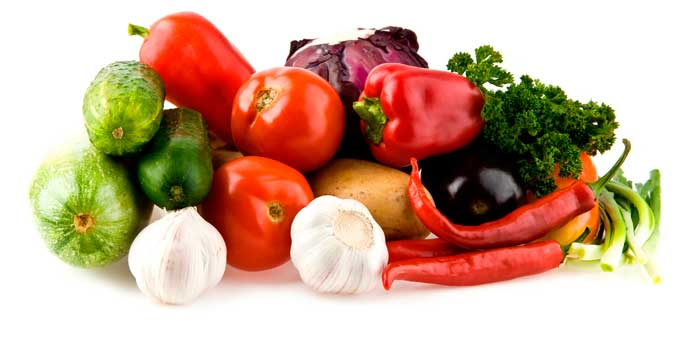 лук, чеснок, томаты, зелень, картофель