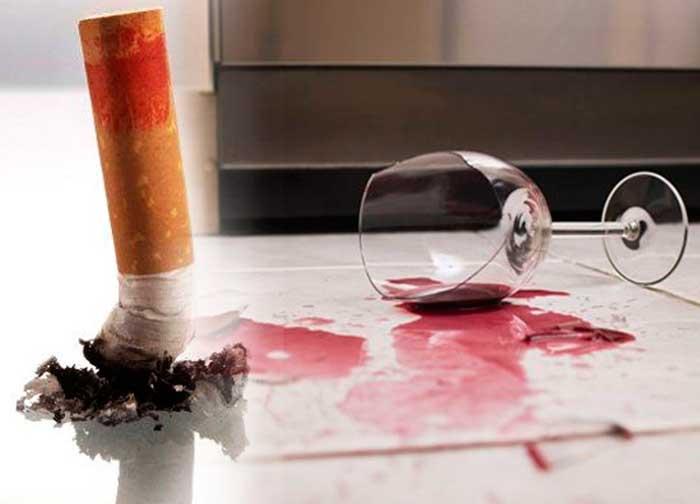 нельзя принимать спиртное и курить при головной боли
